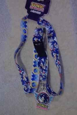 Sonic The Hedgehog Sega Lanyard With Rubber Charm New