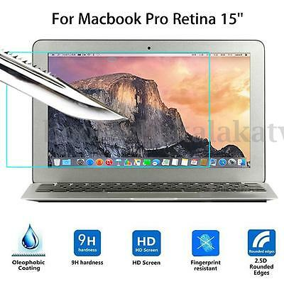 9H Tempered Glass Screen Protector Guard Film Cover For Macbook Pro Retina 15''
