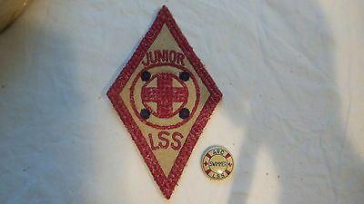 Vintage ARC American Red Cross LSS, LIFE SAVER PINBACK & PATCH