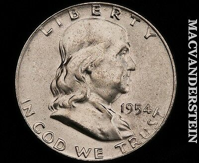 1954 Franklin Half Dollar - Gem  Brilliant Uncirculated!!  #p4415