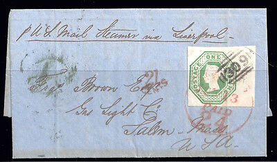 GB stamps QV 1847 1s green embossed on Cover £1900 / $2350