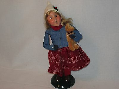 Byers Choice Magnificent 2005 Talbots Exclusive Blonde Girl with Teddy Bear
