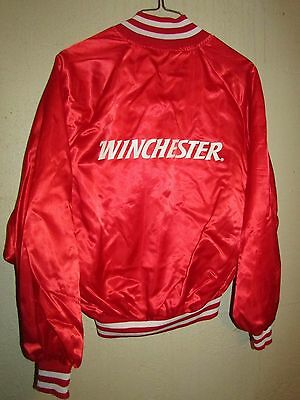 VINTAGE WINCHESTER GUNS ADVERTISING SATIN JACKET 1970's COOL FANTASTIC & RARE XL
