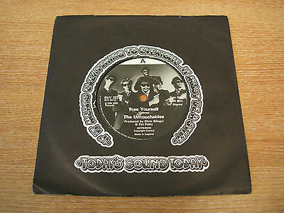 "the untouchables free yourself 1984 uk still label 7"" vinyl single buy 221 ex ex"