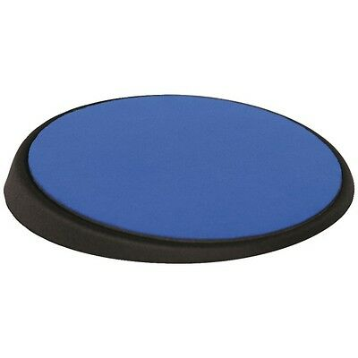 ALLSOP 26226 Wrist Aid Circular Mouse Pad (Blue), Adjustable angle for comfort