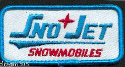 SNO-JET SNOJET Vintage Snowmobile Factory Patch! Ski Sled 70's Sled for Hat or ?