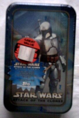 Star Wars AOTC Jango Fett? Tin and Cards,NEW,UNOPENED