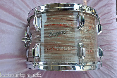 "ADD this RARE VINTAGE Rogers 13"" PINK STRATA TOM to YOUR DRUM SET! LOT #J980"
