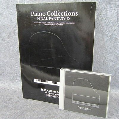 FINAL FANTASY IX 9 PIANO COLLECTIONS Set of SCORE & MUSIC CD Book *