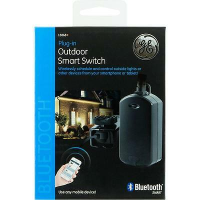 GE Outdoor Bluetooth Wireless Smart Switch Plug In Timer Model 13868
