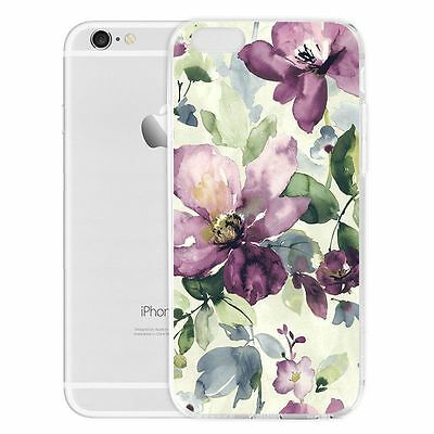 For Xiaomi iPhone Thin Slim Silicone Soft Rubber TPU Back Case Flower Printed
