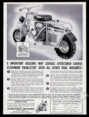 1963 Cushman Trailster motorcycle photo photo vintage print ad