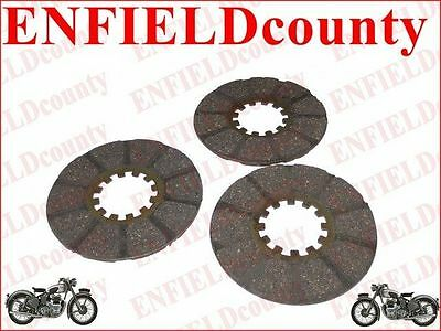 NEW LAMBRETTA SCOOTER 3 UNITS CLUTCH PLATE KIT SET FOR LD @AEs