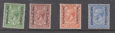 BECHUANALAND PROTECTORATE, 1913 on GB, Single Cypher, 1/2d., 1 1/2d.,2d., 2 1/2d