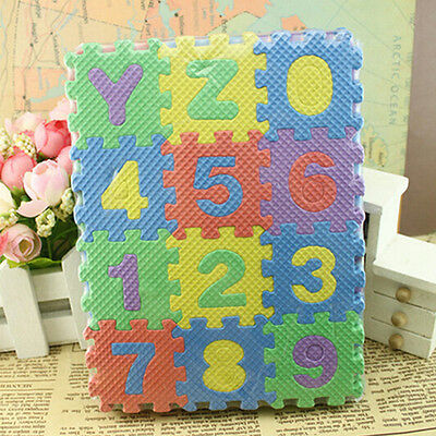 US 36-Pieces Puzzle Mat Learning ABC Alphabet Study Kids Letters Floor Play toy