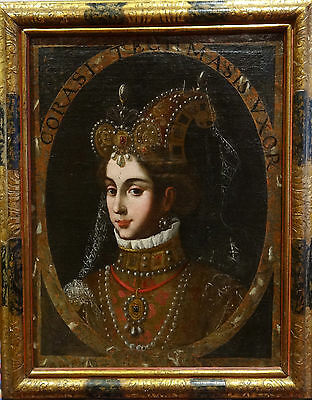 Fine 16th Century Italian Old Master Corasi Wife Tahmasp I Antique Oil Painting