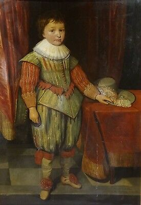 Fine Huge 16th Century Old Master Boy Portrait Antique Oil Painting MYTENS