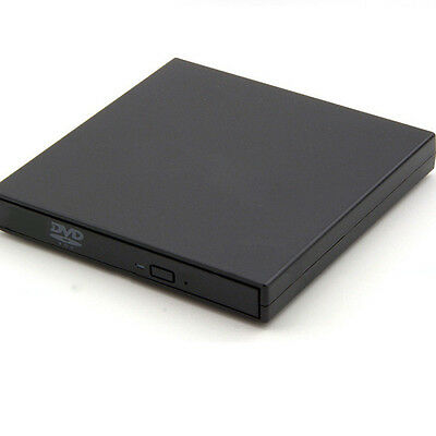 External USB 2.0 Writer Burner For Laptop PC Mac Read Black CD DVD ROM Player