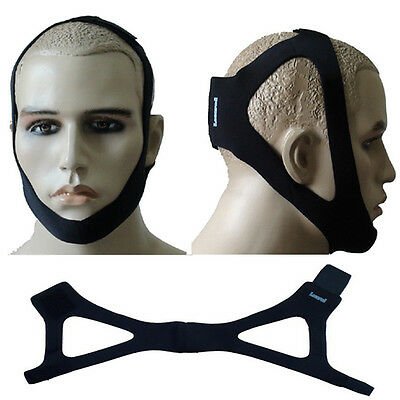 Chin Restraint Chin Strap Black Support for Sleep Apnea Health Care EasyDeals