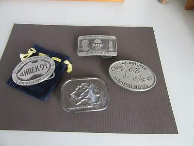 4 Mining Related Belt Buckles Lot 23