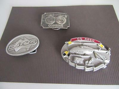 3 Mining Related Belt Buckles Lot 24