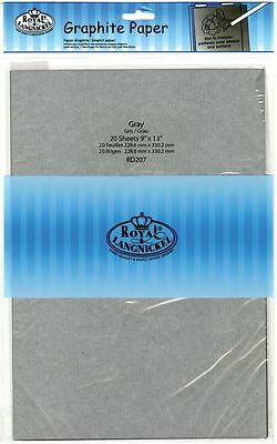 "Royal & Langnickel Graphite Paper Grey 20 Sheets 9"" x 13"""