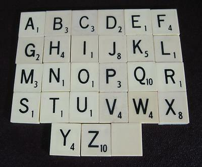 Vintage/retro replacement Scrabble tiles letters A-Z available (flat-back)
