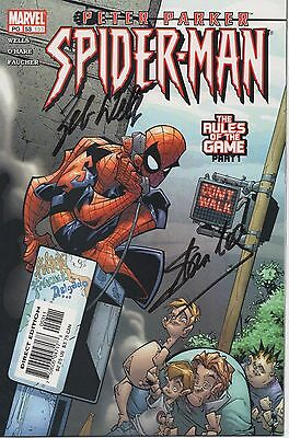 SPIDERMAN signed Peter Parker Marvel comic - STAN LEE & ZEB WELLS