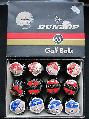 Vintage Golf Balls - Dunlop 65 Lot Of 12 - Wrapped & Boxed