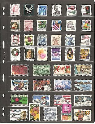 A  Collection  Of 41 Usa   Fine Used   Stamps