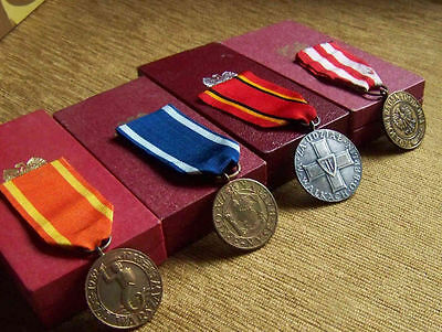 BIG Polish SET of 4 MEDALs & CROSSes lot Poland order GROUP Z GENUINE BOXED WWII