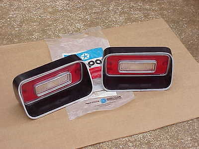 1971 71 1972 72 1973 73 Dodge Dart Swinger NOS MoPar BACK-UP LENS Pair