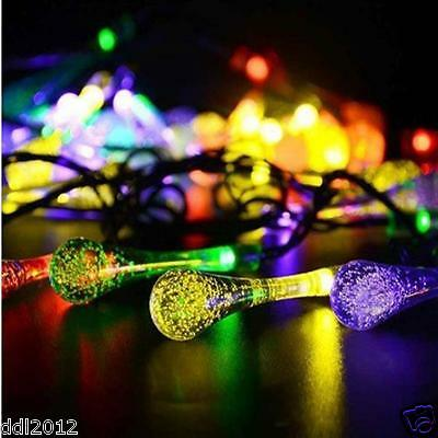 Battery Operated LED Water Drop Fairy String Light Party Wedding Xmas Decor