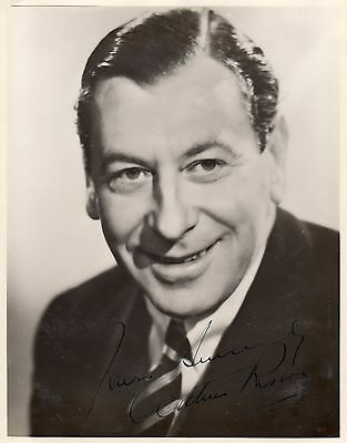 Vintage Photograph Arthur Riscoe Hand Signed Ink Actor Autograph Comedy