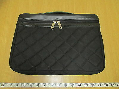 "Knomo Black Quilted 16"" Laptop Case F715666"
