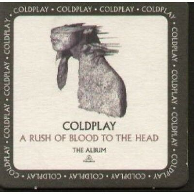 COLDPLAY A Rush Of Blood To The Head BEERMAT UK Parlophone Promo Only Double
