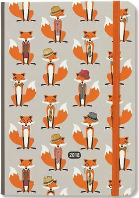 Peter Pauper 2018 Dapper Foxes Weekly Planner (16-Month Engagement Diary)