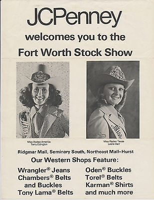 Miss Rodeo America Terry Edington, Miss Rodeo Texas Leslie Barr, Fort Worth 1977