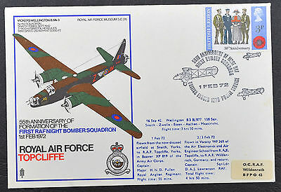 RAF Museum Stamp Cover ~ Topcliffe ~ 1972 ~ Vickers Wellington