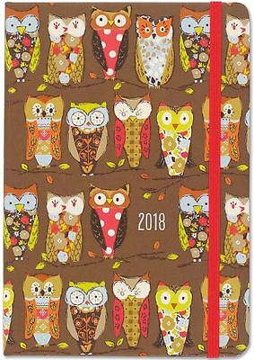 Peter Pauper 2018 Perching Owls Weekly Planner (16-Month Engagement Diary)