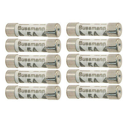 10 Pack 5 Amp Rated Replacement Household Fuse Set 240V Ac For Lights Etc