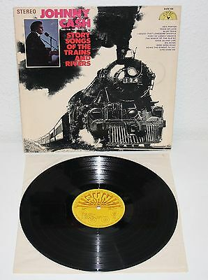 JOHNNY CASH Story Songs of the Trains And Rivers 1969 USA LP Original SUN 104