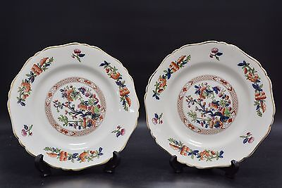 "Two Matching S. Hancock & Sons ""Indian Tree"" Plates (VAD12)"