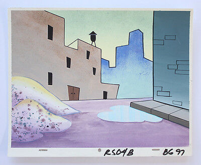 Ren & Stimpy Fire Dogs Production Background Cel Cell And Animation Art Artwork