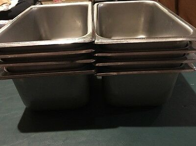 Lot of 8 stainless steel catering chafing dishes 3 quart 18-8 JR NSF
