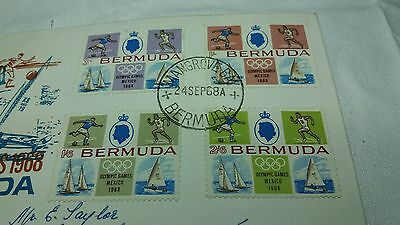 1968 First Day Cover Stamps Bermuda Olympic Games