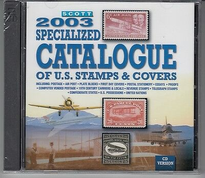 Scott  2003 Specialized Catalogue of US Stamps & Covers  CD Version  OVP