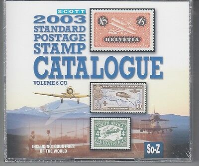 Scott  2003 Standard Postage Stamp Catalogue Vol. 6  Countries So-Z  CD Version