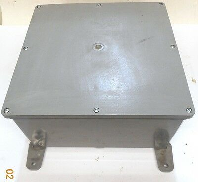 "Unknown Brand Electrical Enclosure, E989R, 12-5/16""x12-5/16""x6-3/8"""