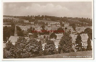Scotland Jedburgh from Allerley Well Park Real Photo Vintage Postcard 17.12